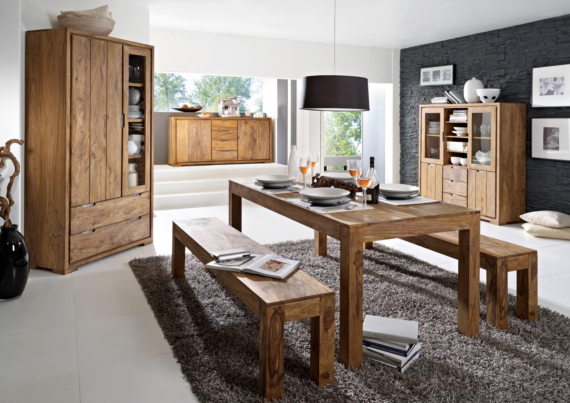 whitney mountain highboard sheesham gebeizt. Black Bedroom Furniture Sets. Home Design Ideas