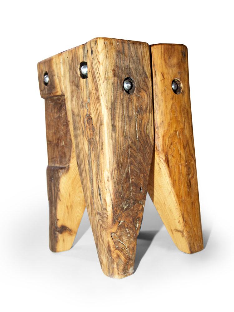 wikinger zahnhocker hocker alteiche 30x30 cm ge lt. Black Bedroom Furniture Sets. Home Design Ideas