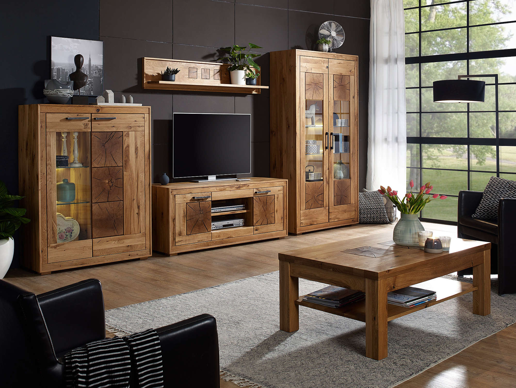 winston i highboard wildeiche ge lt. Black Bedroom Furniture Sets. Home Design Ideas
