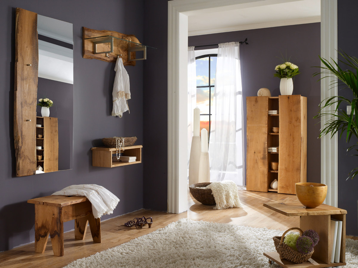 woodline garderobe mit hutablage eiche s gerau. Black Bedroom Furniture Sets. Home Design Ideas