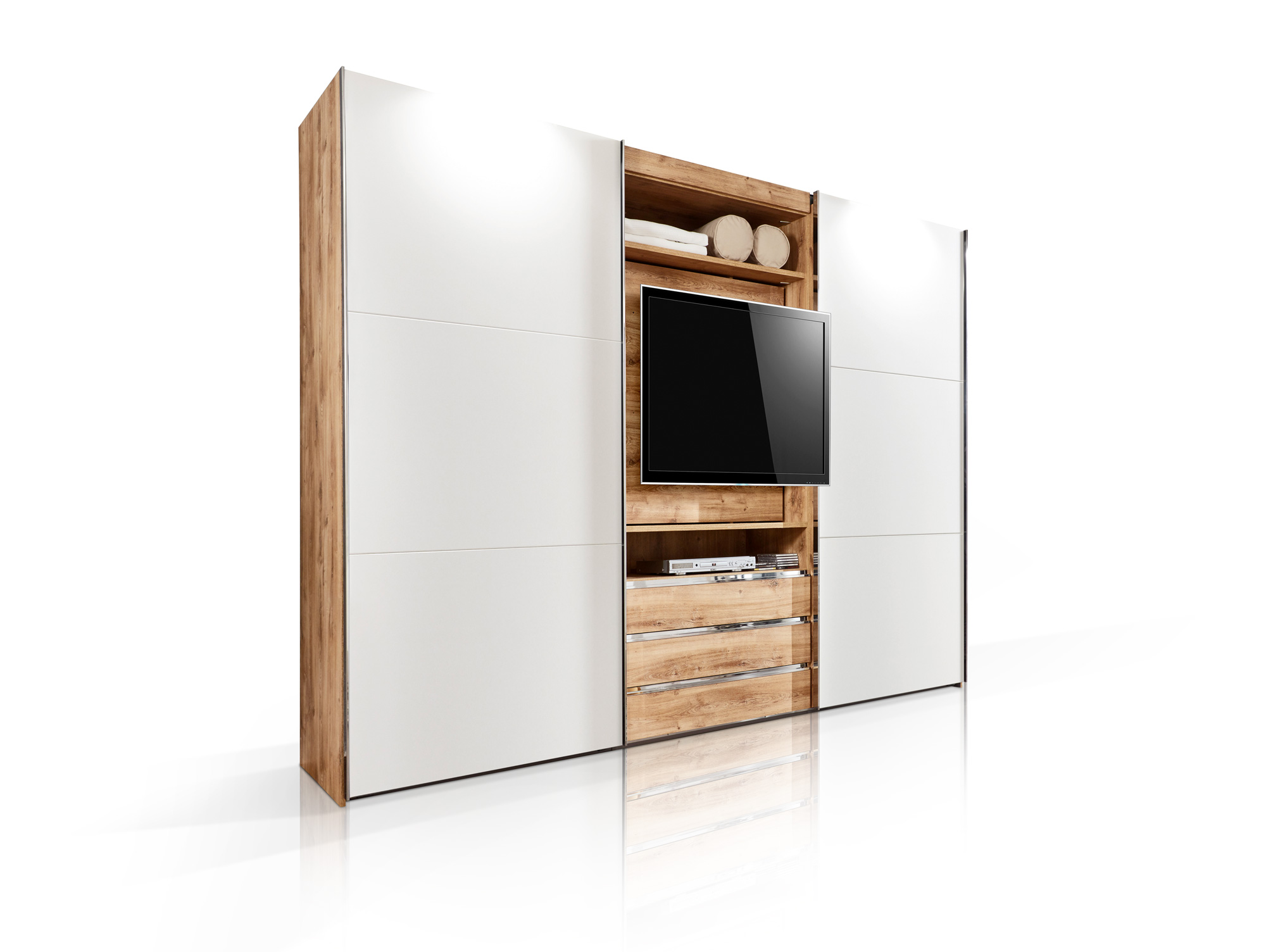 manchester tv schwebet renschrank 216 cm plankeneiche weiss. Black Bedroom Furniture Sets. Home Design Ideas