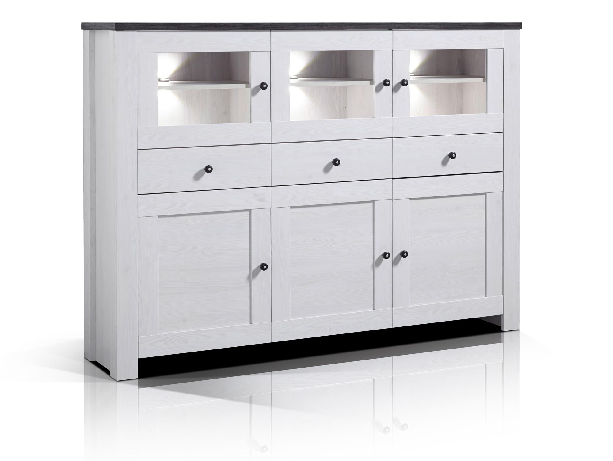 antwerpen highboard l rche pinie dunkel. Black Bedroom Furniture Sets. Home Design Ideas