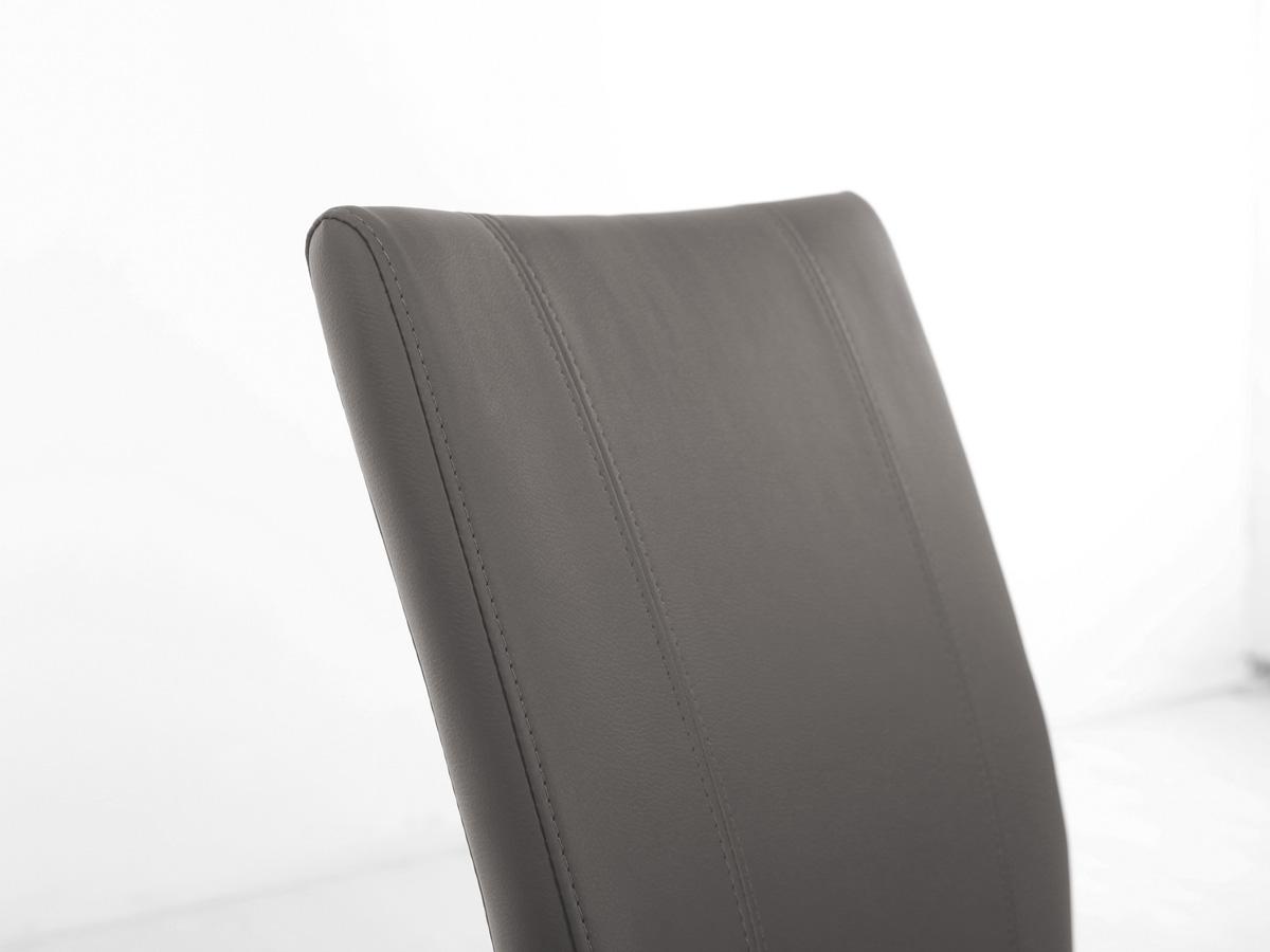Spider polsterstuhl esstischstuhl kunstleder grau for Esstischstuhl grau