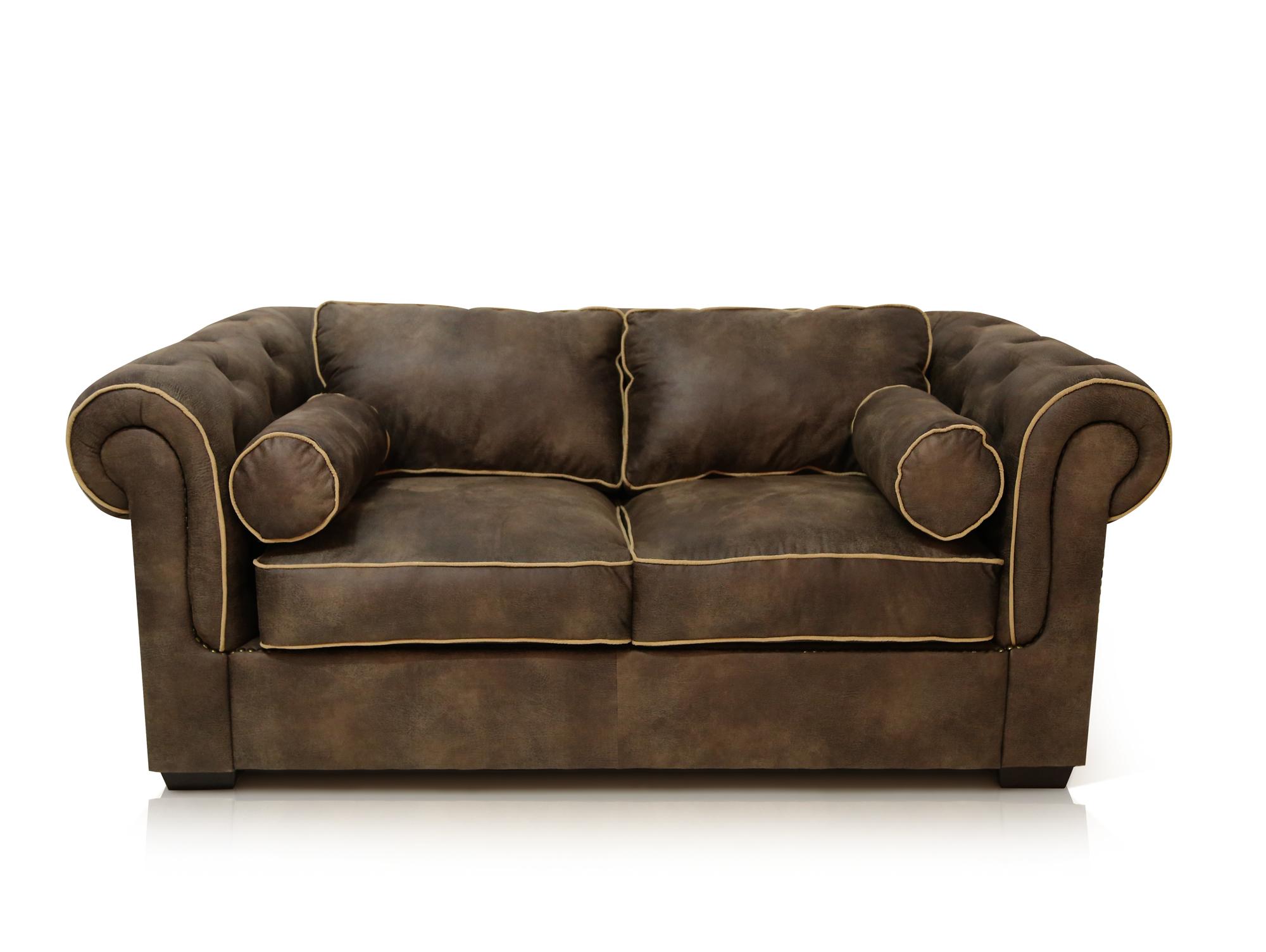 walstar sofa 2 sitzer grau braun. Black Bedroom Furniture Sets. Home Design Ideas