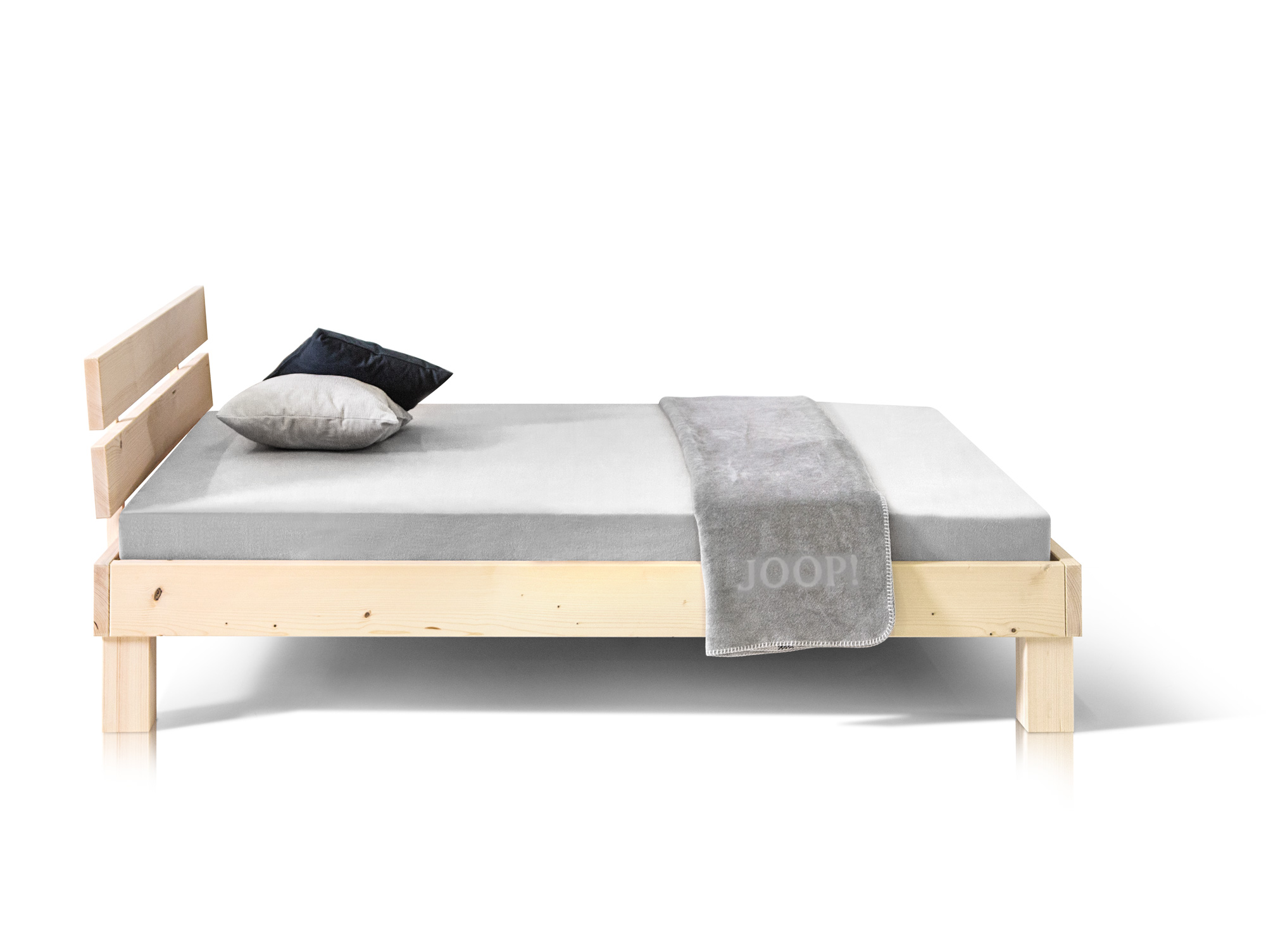 pumba massivholzbett fichte 90x200 cm natur. Black Bedroom Furniture Sets. Home Design Ideas