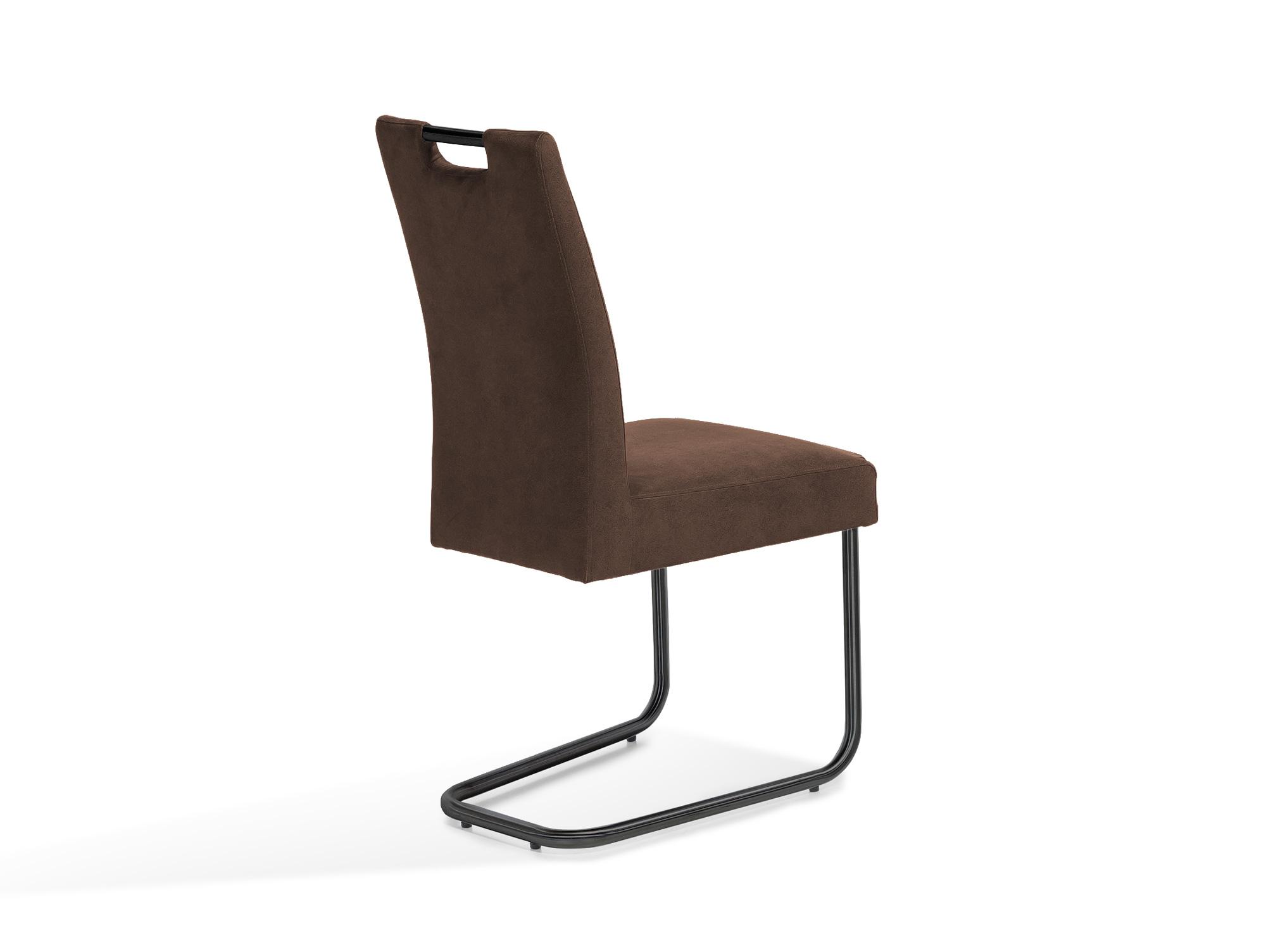 klara freischwinger gestell schwarz lackiert dunkelbraun. Black Bedroom Furniture Sets. Home Design Ideas