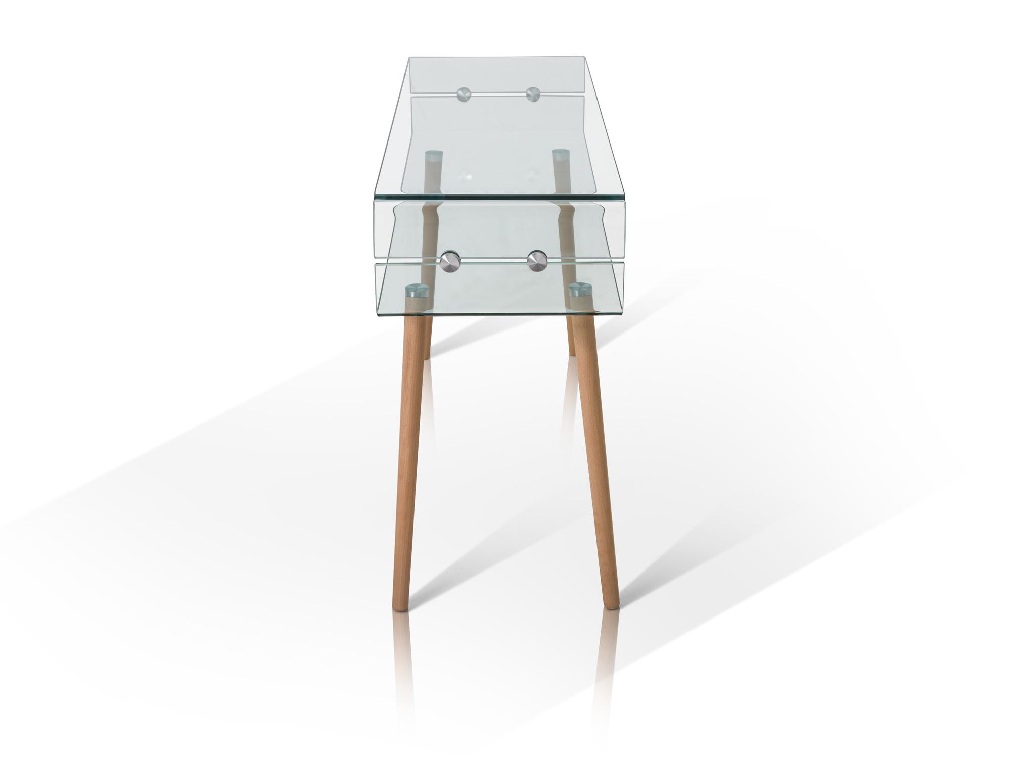 lisa beistelltisch glas f e buche. Black Bedroom Furniture Sets. Home Design Ideas