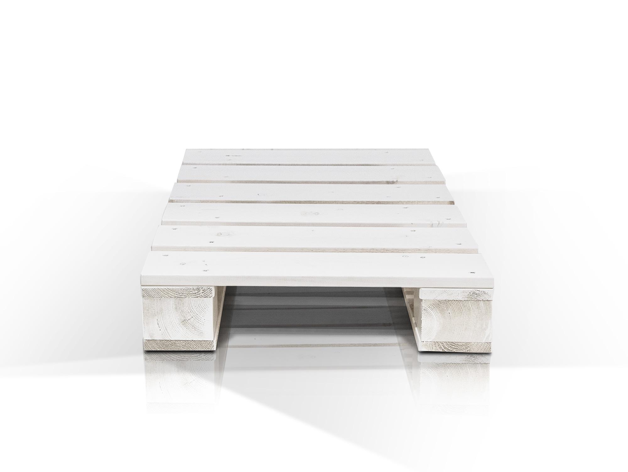 paletti couchtisch i aus paletten 60x90 cm weiss lackiert. Black Bedroom Furniture Sets. Home Design Ideas