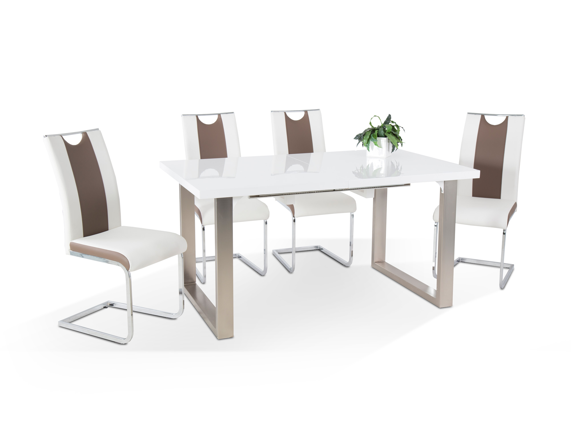 rom esstisch 150 190x90 cm wei hochglanz. Black Bedroom Furniture Sets. Home Design Ideas