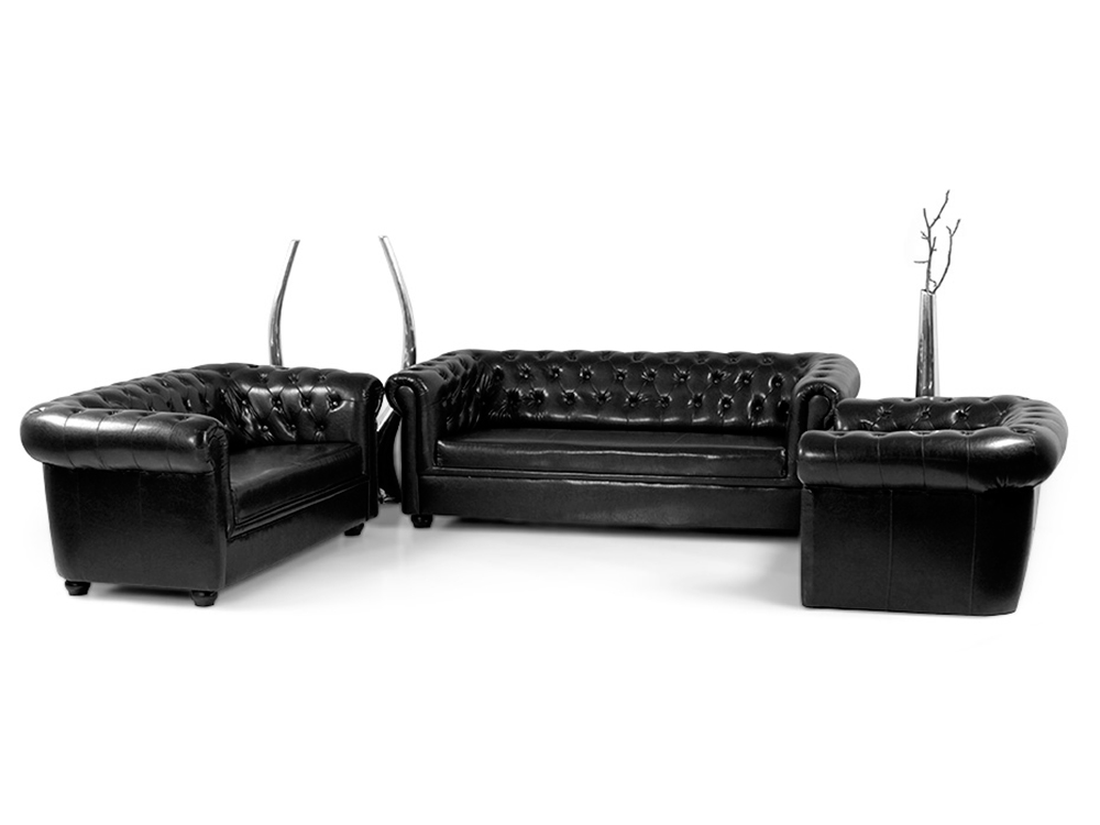 polstersofa fabulous polstersofa materialmix schwarz. Black Bedroom Furniture Sets. Home Design Ideas