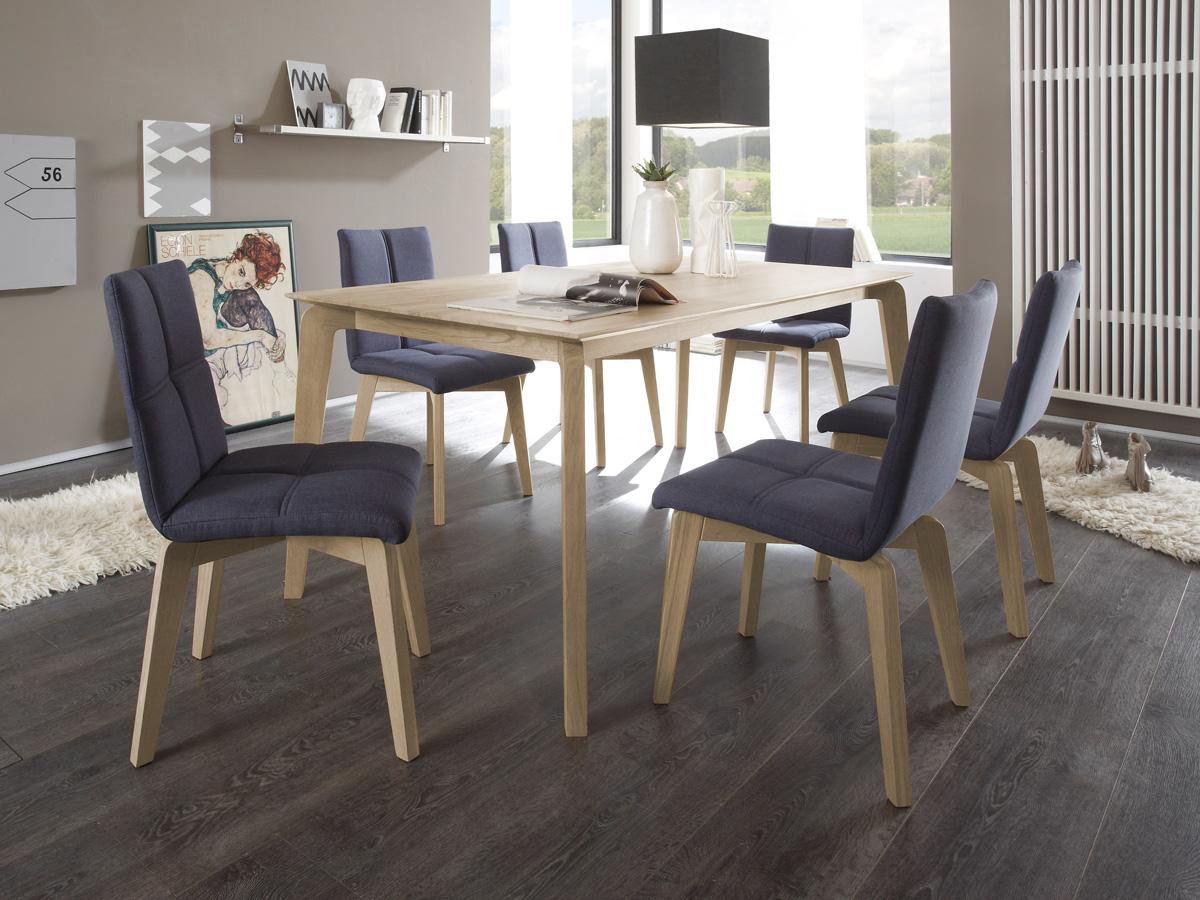 Lani massivholztisch eiche sonoma lackiert 160 x 90 cm for Massivholztisch eiche