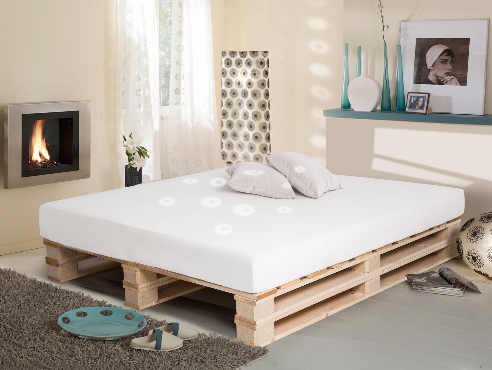 paletti duo massivholzbett palettenbett 160 x 200 cm. Black Bedroom Furniture Sets. Home Design Ideas