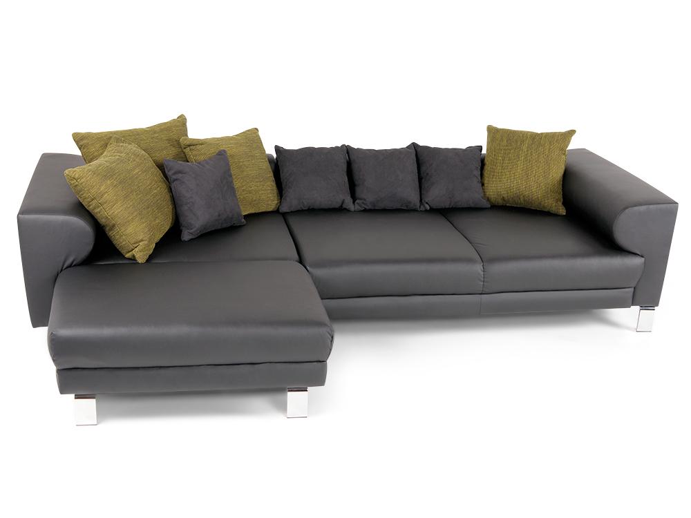 folke sofa kunstleder schwarz ottomane links. Black Bedroom Furniture Sets. Home Design Ideas