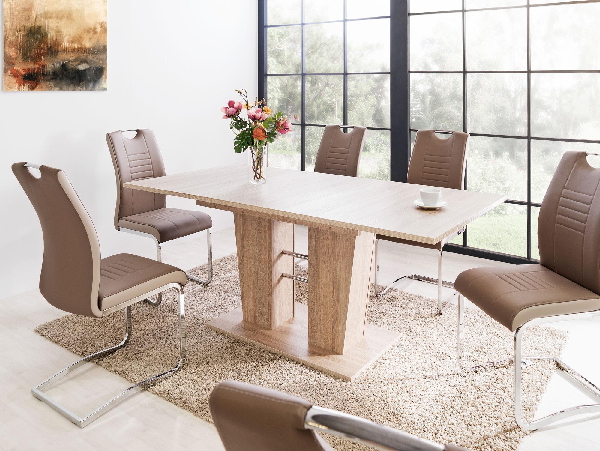breda esstisch 140 180x90 dekor eiche sonoma. Black Bedroom Furniture Sets. Home Design Ideas