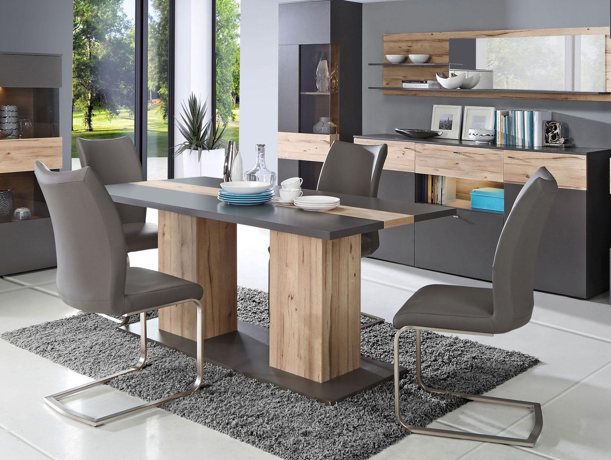 clara esstisch 180x90 cm wolfram grau planked eiche. Black Bedroom Furniture Sets. Home Design Ideas