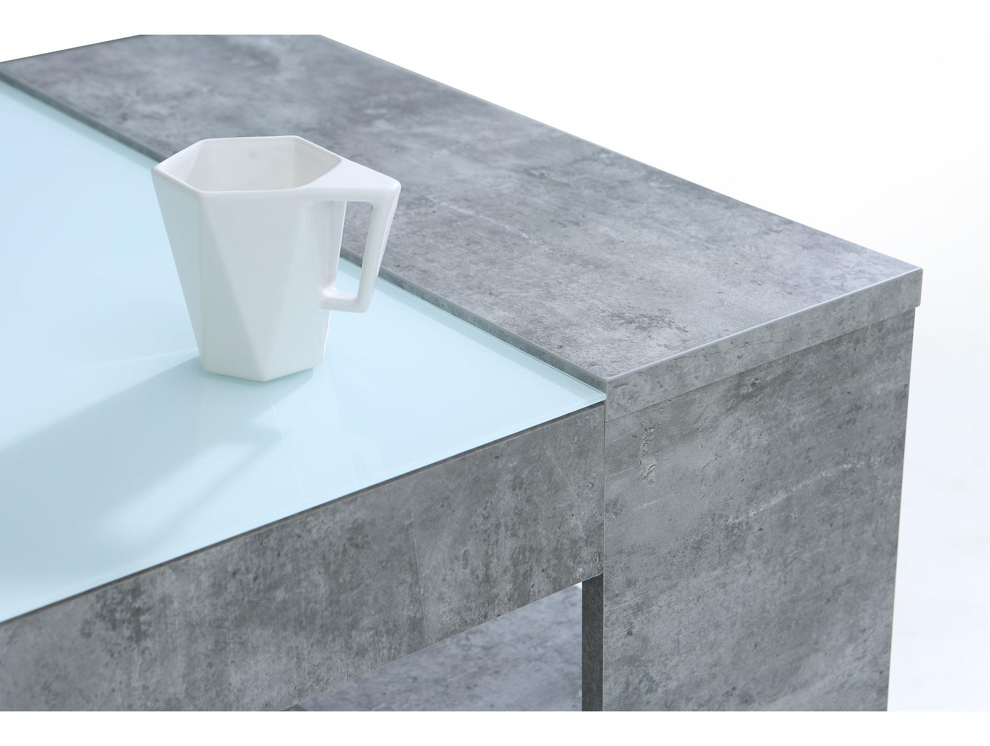 brad couchtisch beton glas. Black Bedroom Furniture Sets. Home Design Ideas
