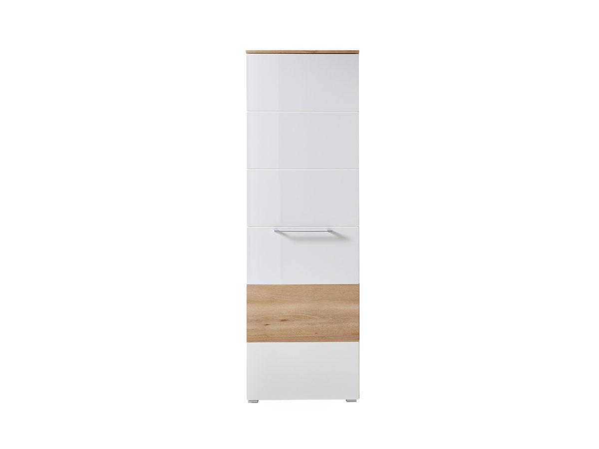 rene garderobenschrank hochglanz weiss hg buche. Black Bedroom Furniture Sets. Home Design Ideas