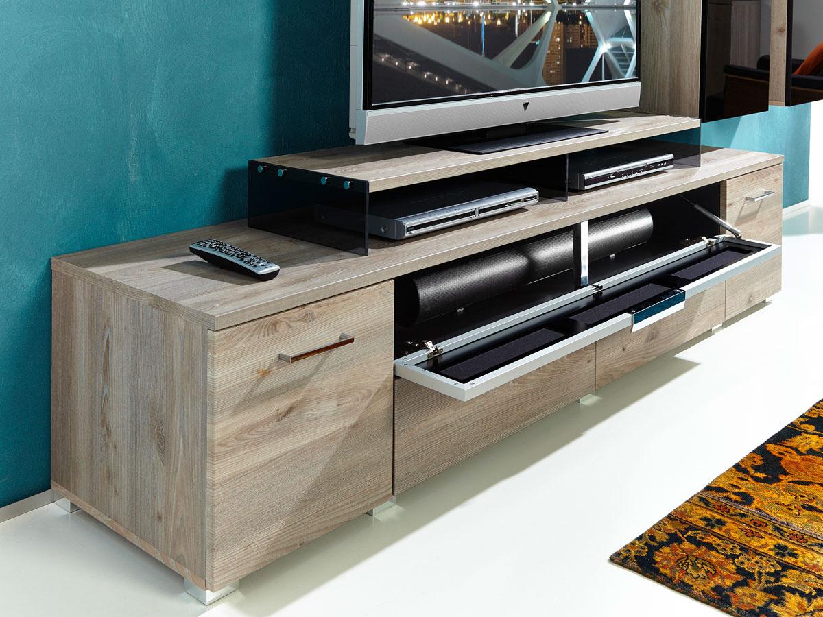 black iii wohnwand silbereiche schwarzglas. Black Bedroom Furniture Sets. Home Design Ideas