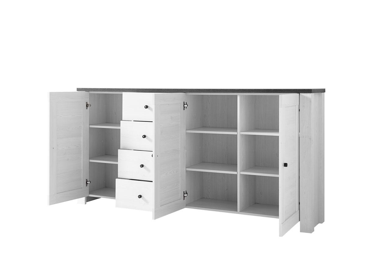 antwerpen iii kommode t ren 4 sk l rche pinie dunkel. Black Bedroom Furniture Sets. Home Design Ideas
