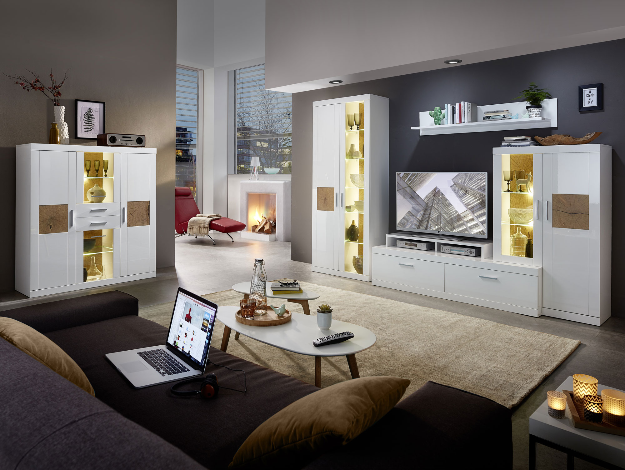 jerry highboard wei hirnholz. Black Bedroom Furniture Sets. Home Design Ideas