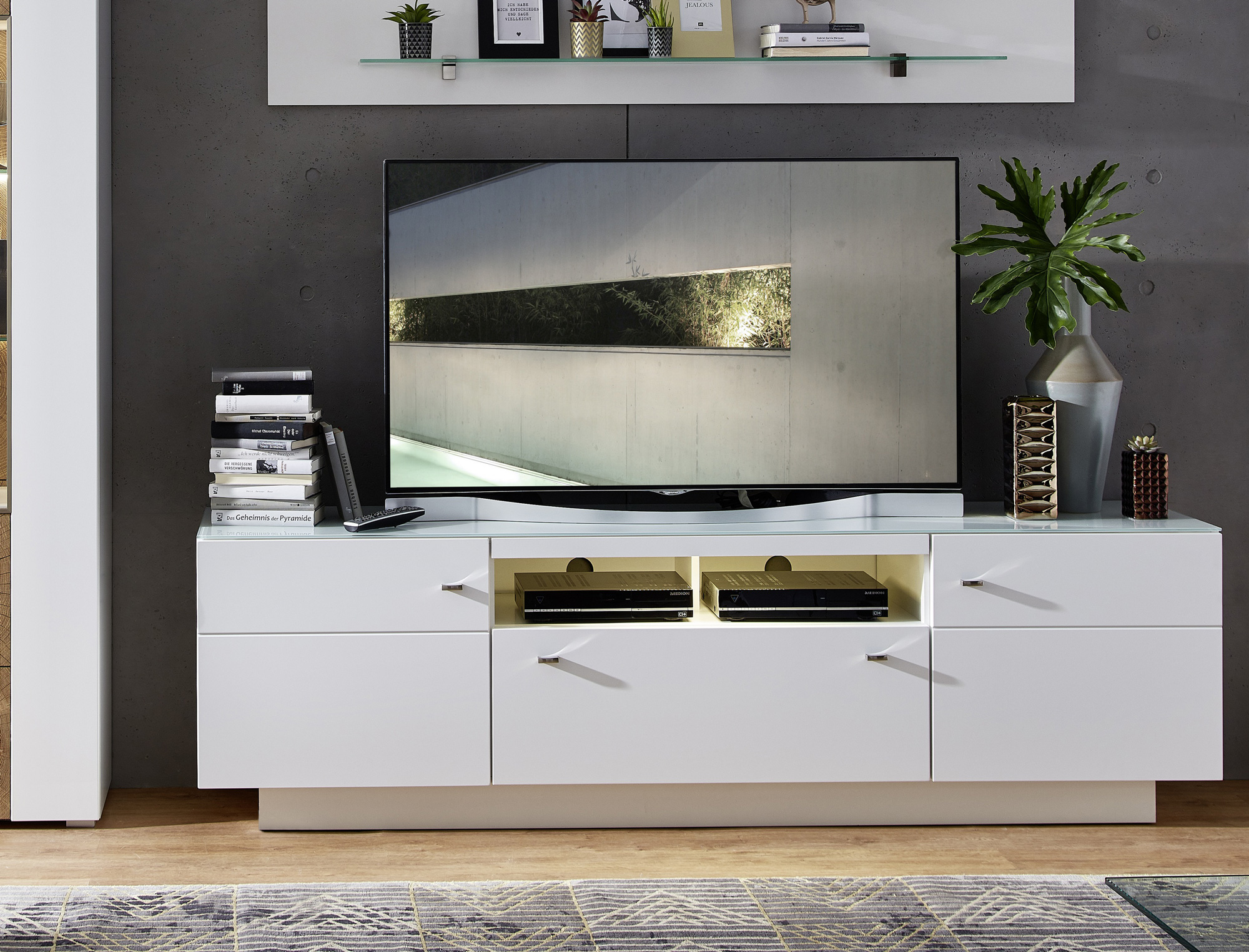 dura tv unterteil weiss matt. Black Bedroom Furniture Sets. Home Design Ideas