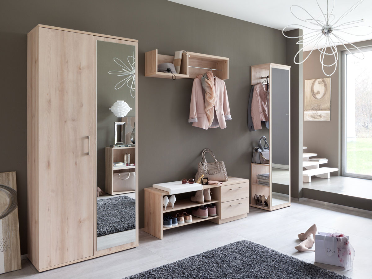 alf dielenschrank mit spiegel edelbuche. Black Bedroom Furniture Sets. Home Design Ideas