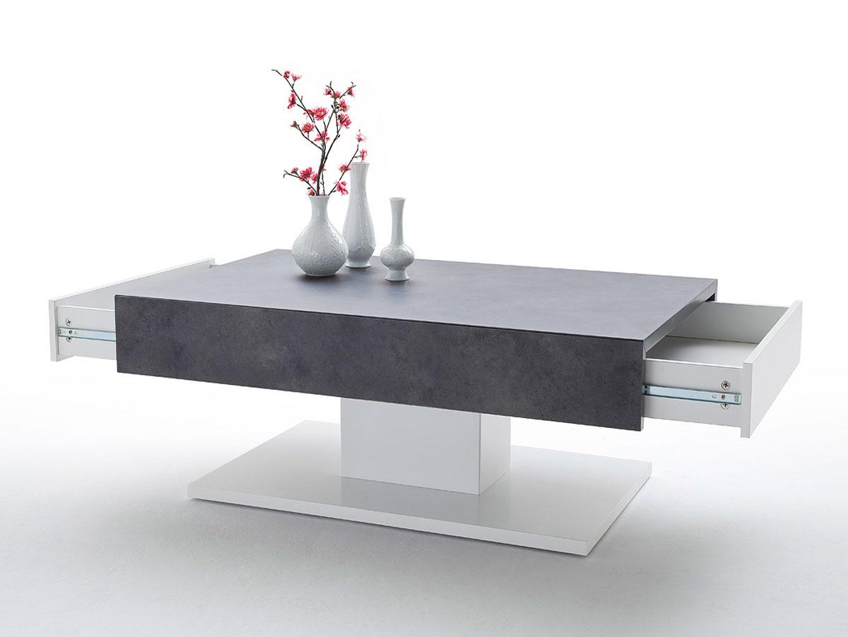 lalia ii couchtisch beton dekor matt wei lackiert. Black Bedroom Furniture Sets. Home Design Ideas