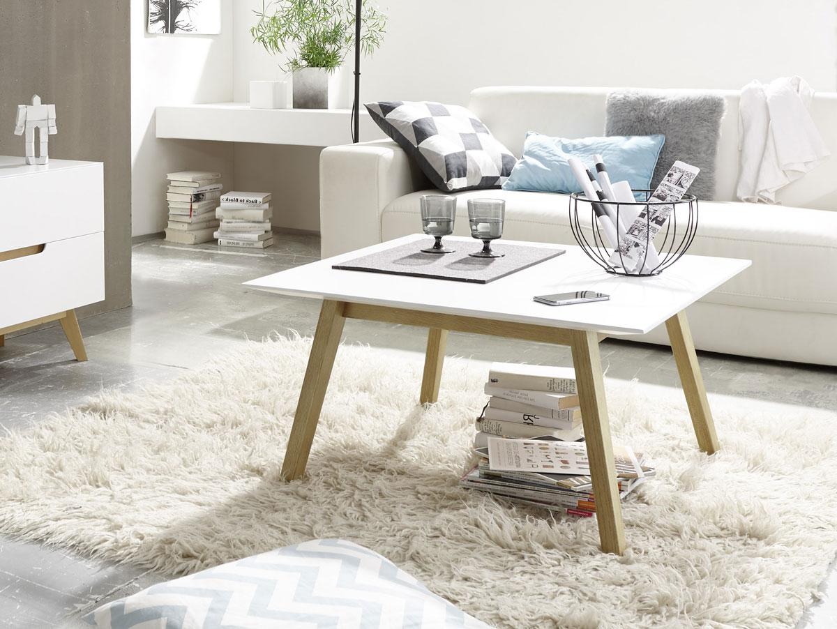 cava couchtisch matt weiss eichefarbig 80 x 80 cm. Black Bedroom Furniture Sets. Home Design Ideas