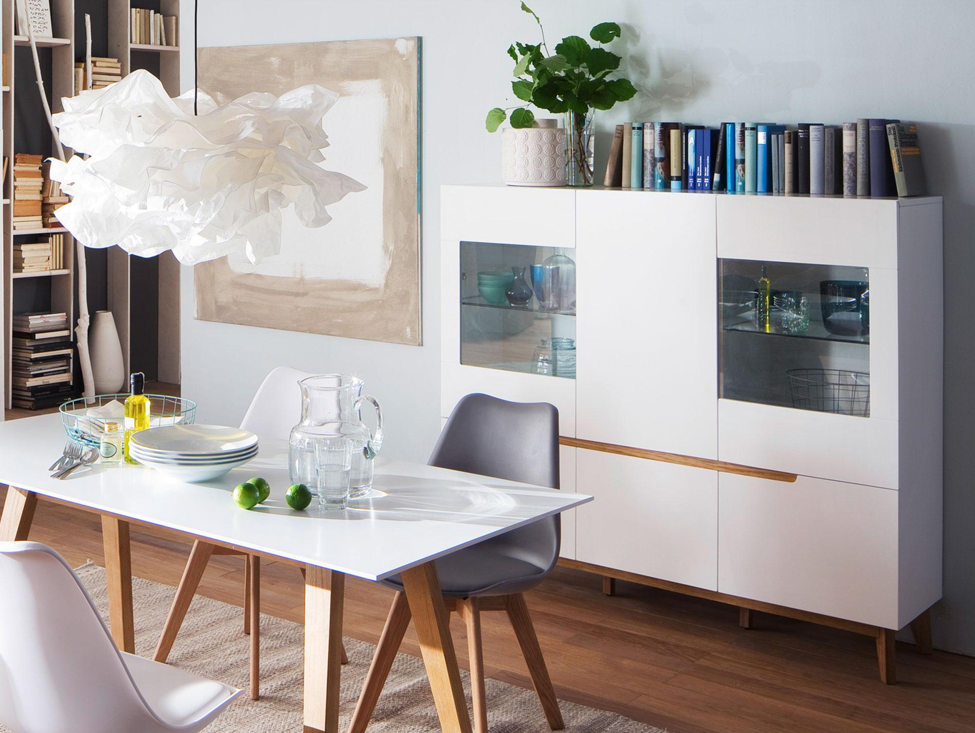 cava highboard matt wei eiche. Black Bedroom Furniture Sets. Home Design Ideas