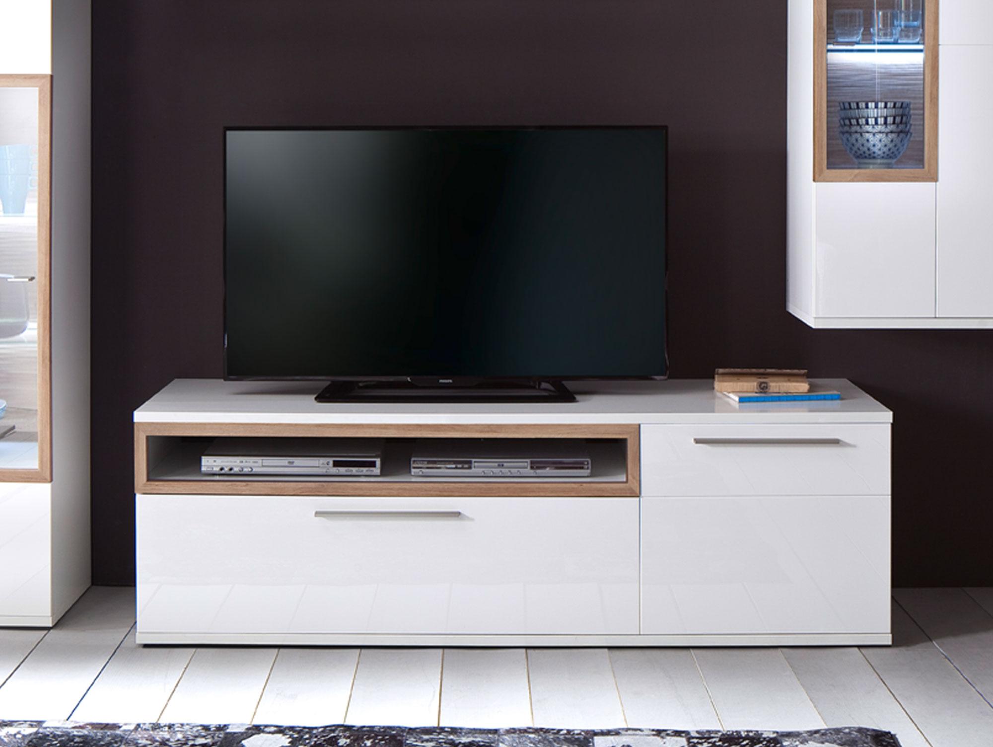 pancras ii tv element wei eiche riviera. Black Bedroom Furniture Sets. Home Design Ideas