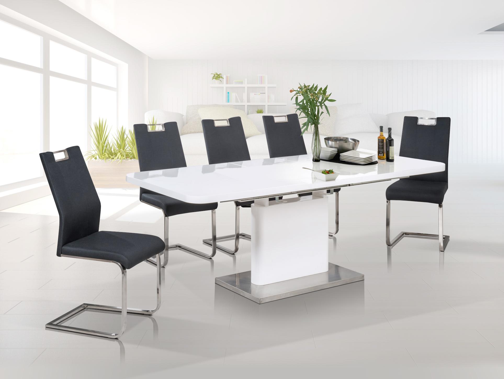 adriana esstisch 120 160x80 cm wei. Black Bedroom Furniture Sets. Home Design Ideas