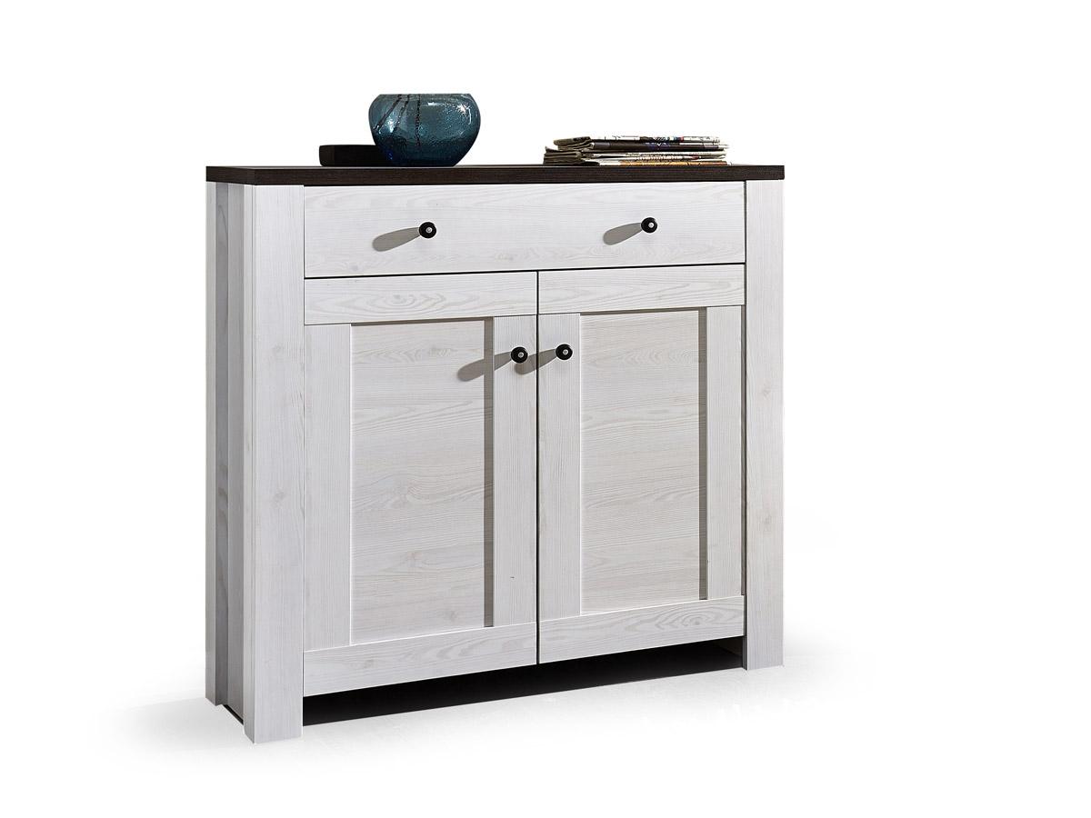antwerpen schuhschrank 2 t ren l rche pinie dunkel. Black Bedroom Furniture Sets. Home Design Ideas