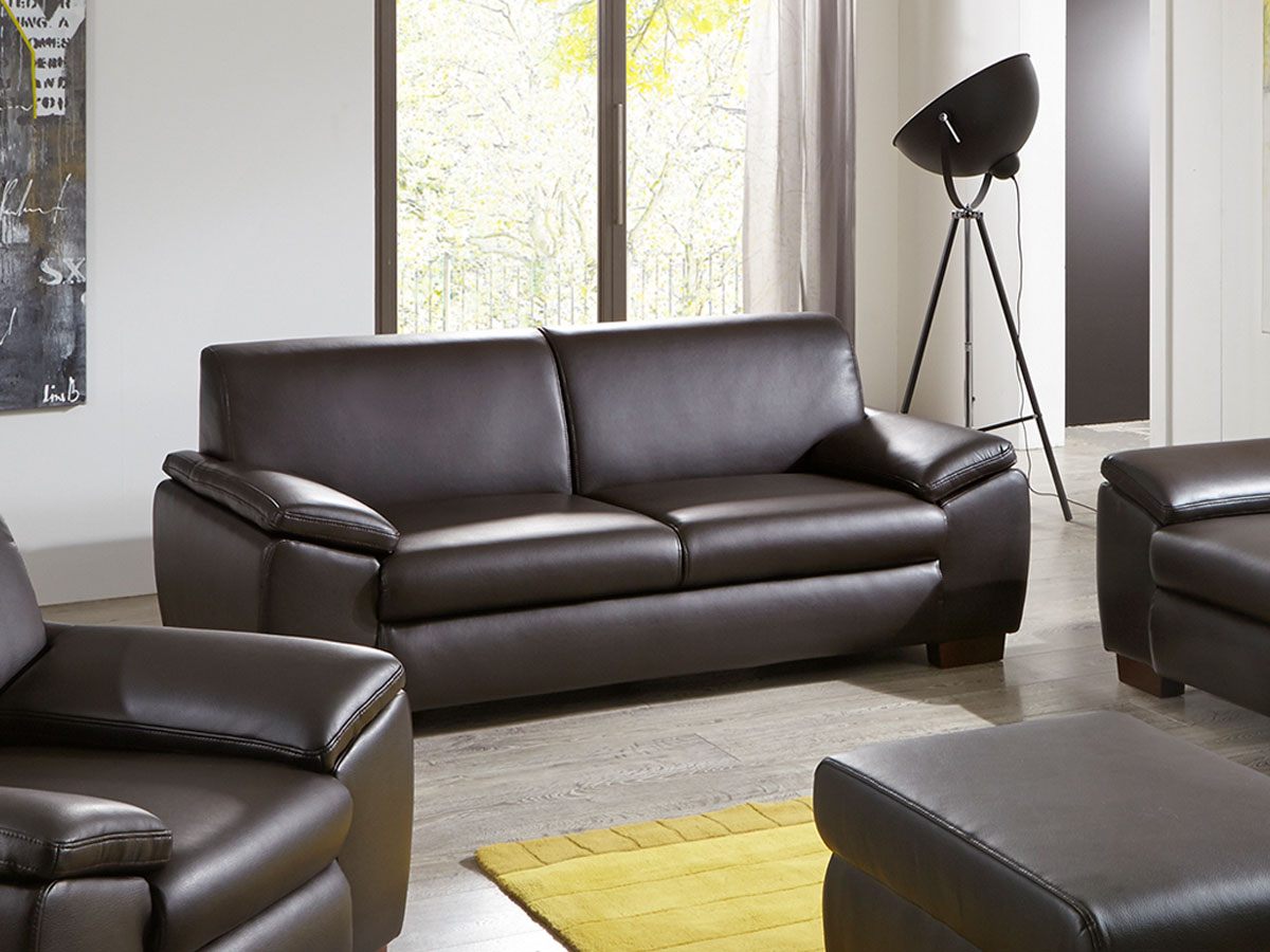 luxus 3 2 1 sofagarnitur couchgarnitur loungesofa chesterfield kunstleder runde f e schwarz. Black Bedroom Furniture Sets. Home Design Ideas