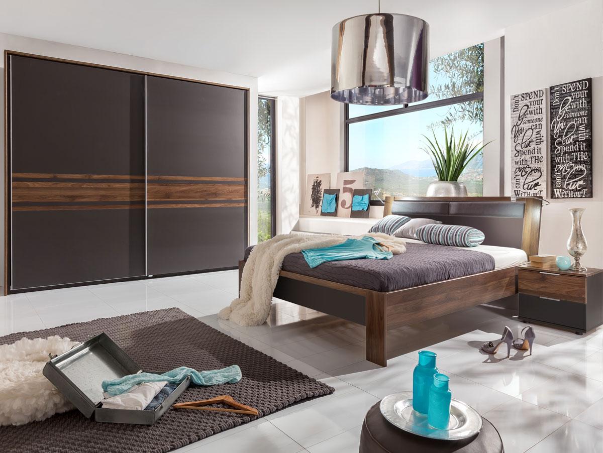 famous schwebet renschrank lavagrau nussbaum 250 cm. Black Bedroom Furniture Sets. Home Design Ideas