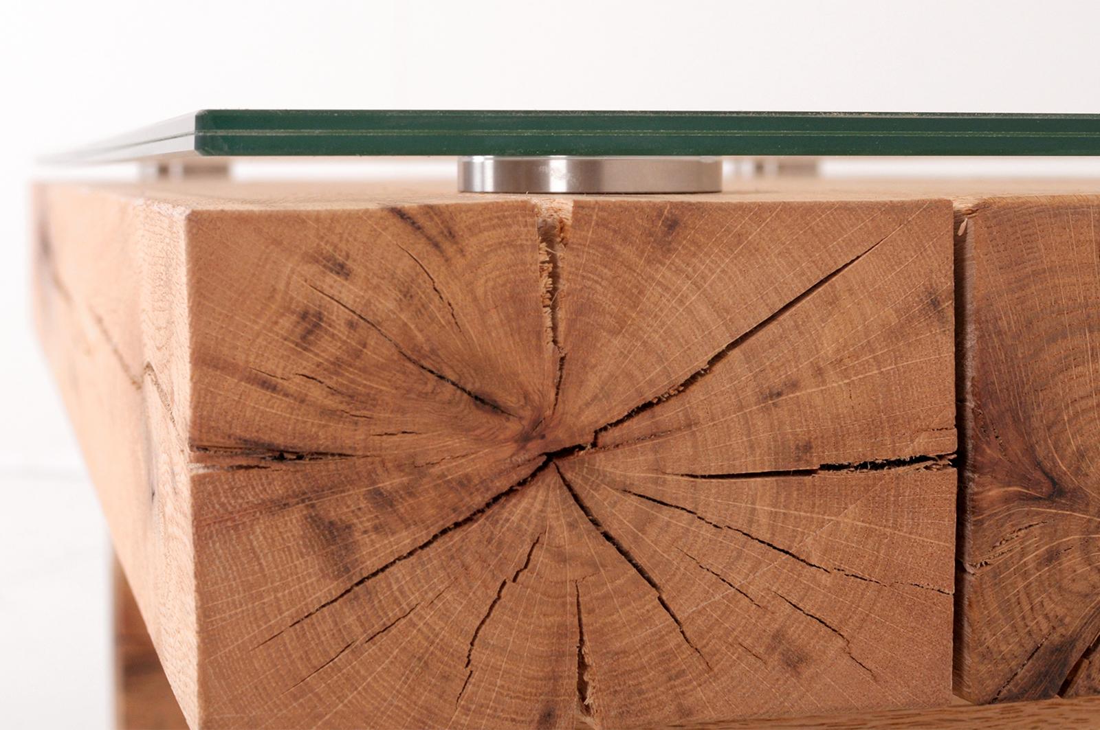BELLA Couchtisch Sumpfeiche 140 cm  gerade