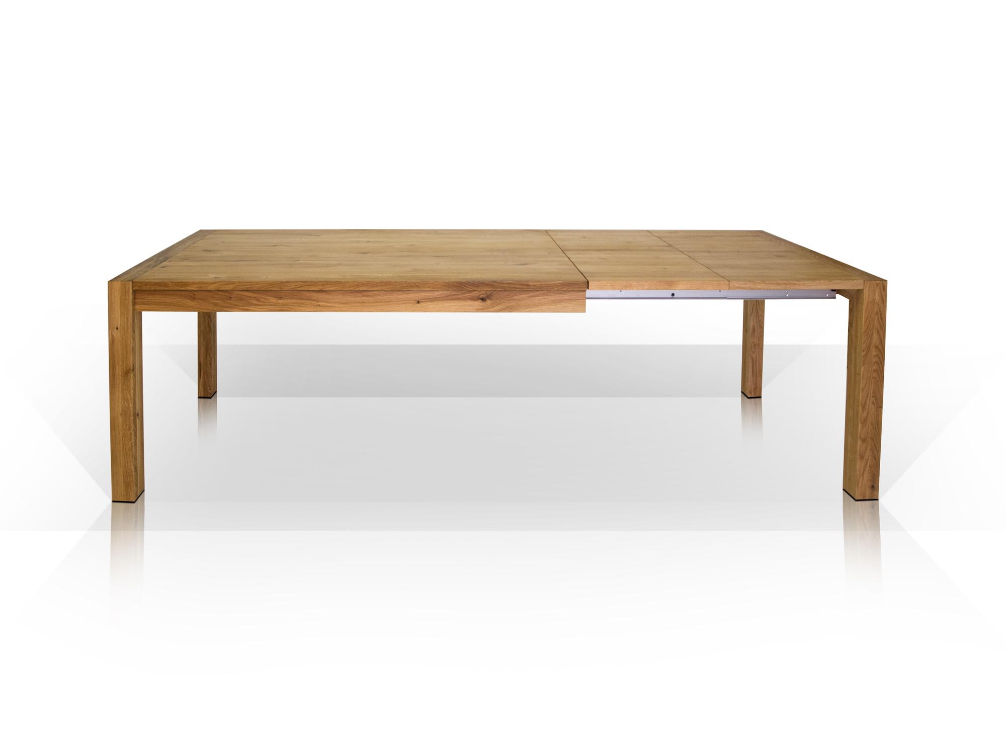 Esstisch Massivholz Reduziert : CÄSAR Esstisch Massivholz geölt Wildeiche  180280 cm  100 cm