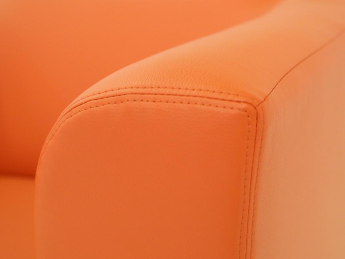 chicago 2er sofa ledersofa orange. Black Bedroom Furniture Sets. Home Design Ideas