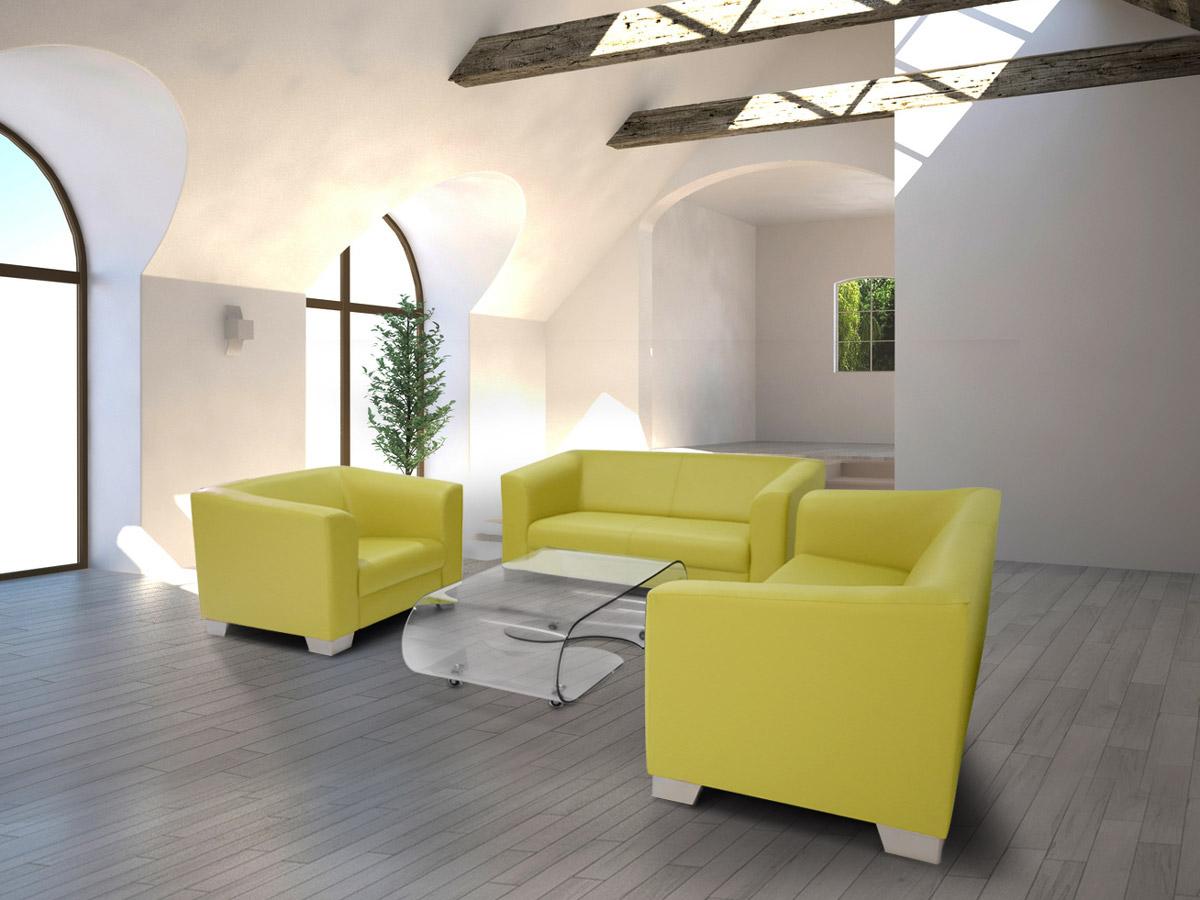 chicago 3 2 1 sofagarnitur gr n. Black Bedroom Furniture Sets. Home Design Ideas