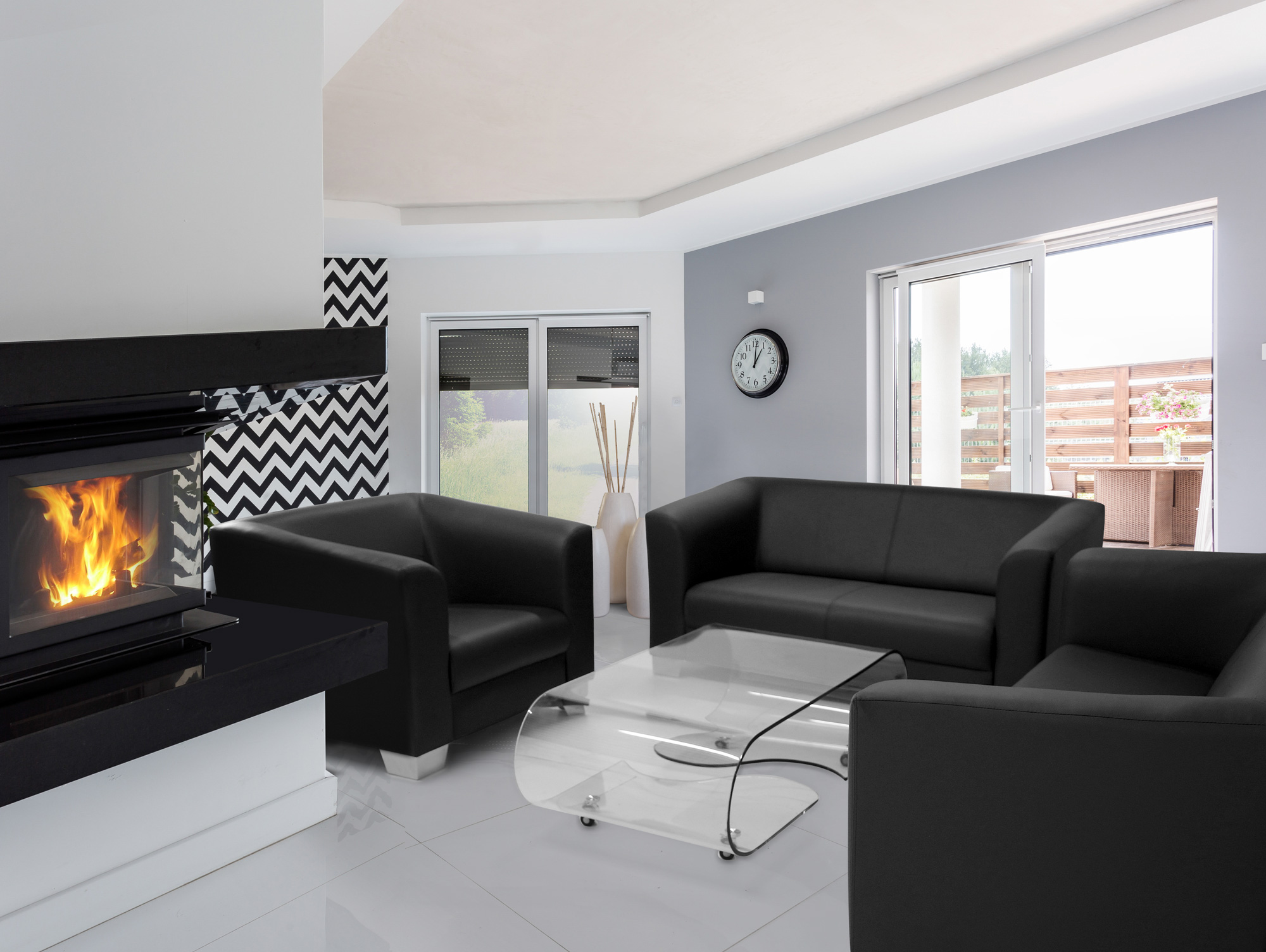 chicago sessel webstoff berlin schwarz. Black Bedroom Furniture Sets. Home Design Ideas