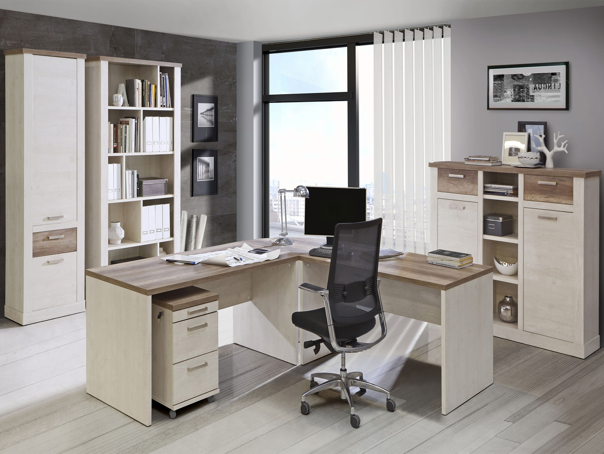 dagur regal gro pinie wei eiche antik. Black Bedroom Furniture Sets. Home Design Ideas