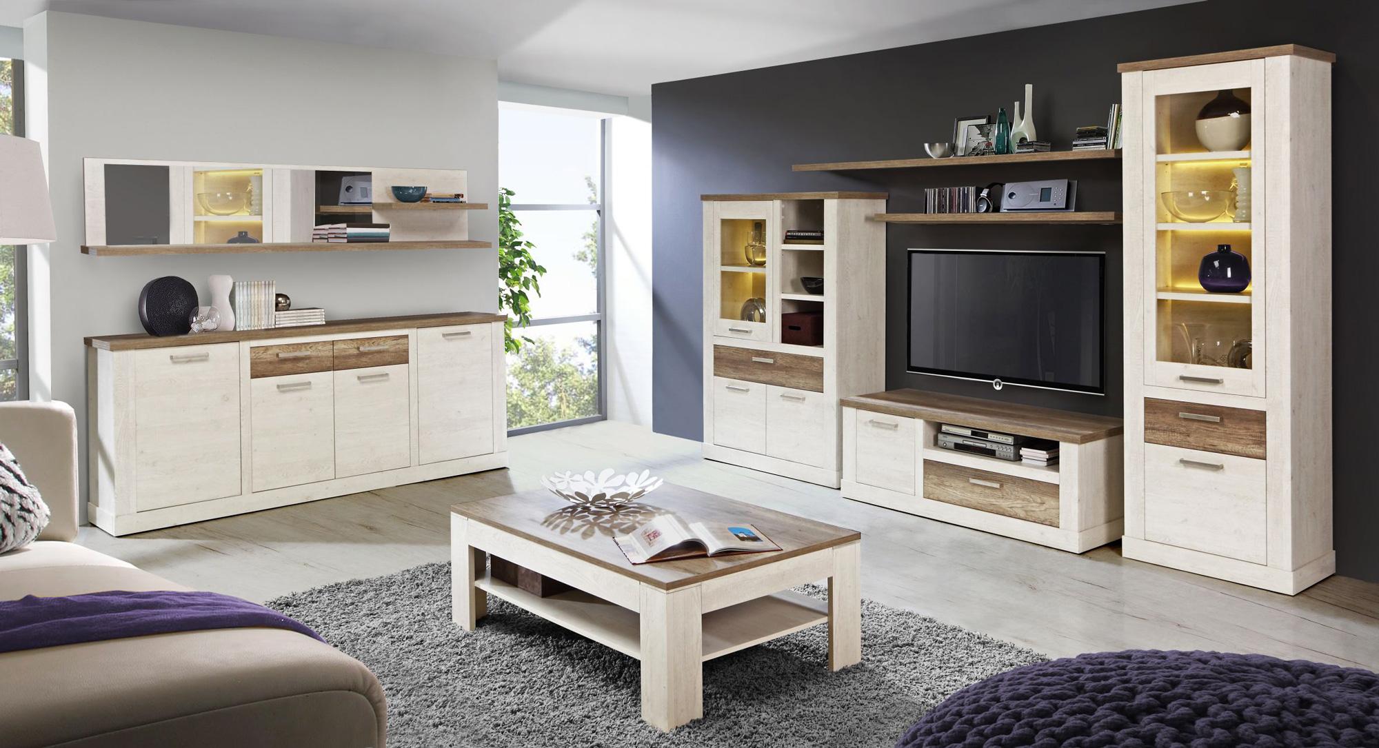 dagur l tv unterschrank pinie weiss. Black Bedroom Furniture Sets. Home Design Ideas