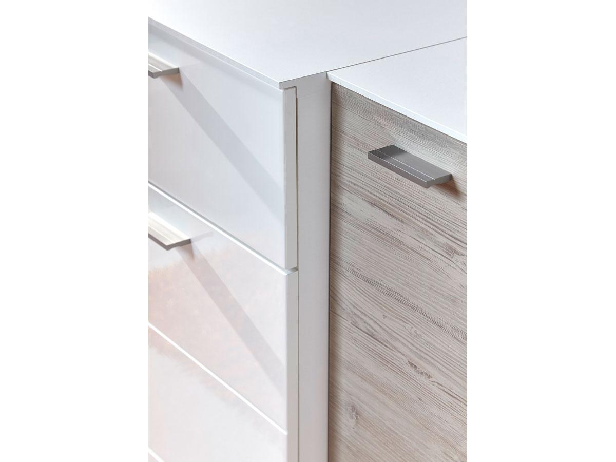 dublin iii garderobenset wei taupe. Black Bedroom Furniture Sets. Home Design Ideas