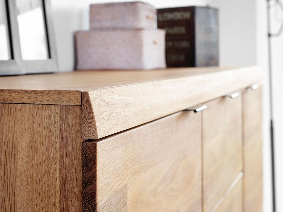 cago highboard eiche f e silber matt. Black Bedroom Furniture Sets. Home Design Ideas