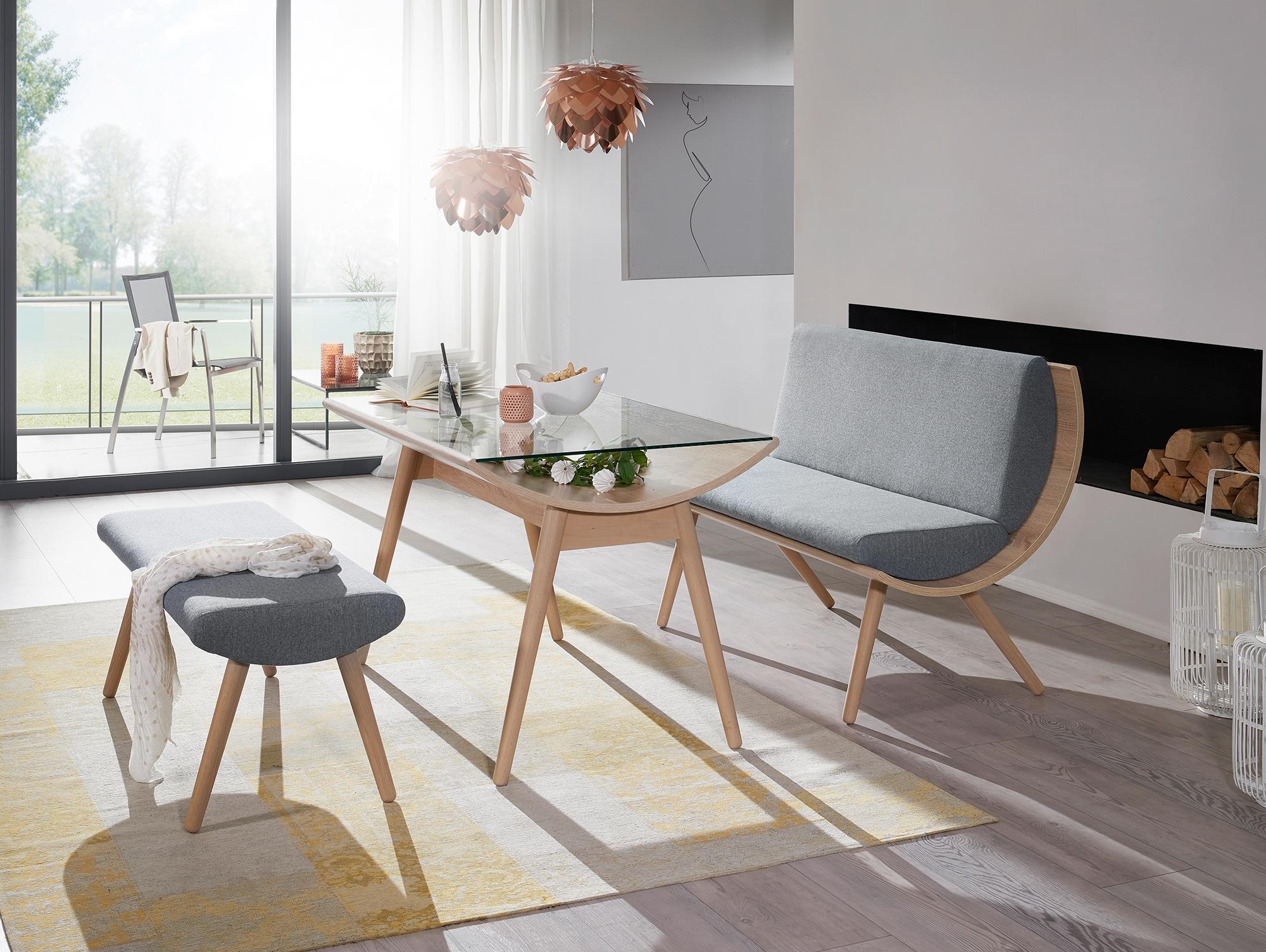 emely bank ohne lehne mit kompletter polsterung 135 cm. Black Bedroom Furniture Sets. Home Design Ideas