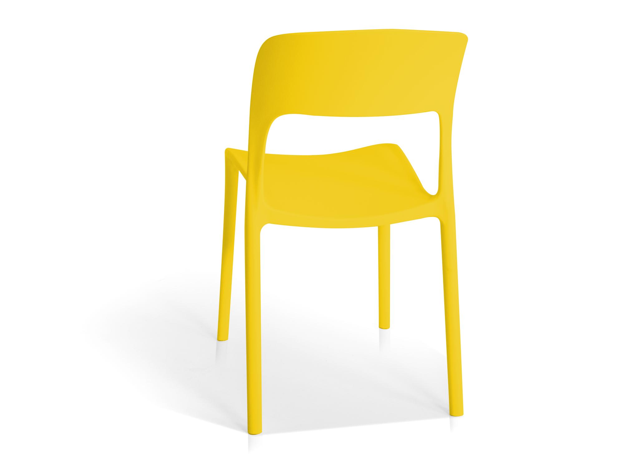 florian kunststoff stuhl gelb. Black Bedroom Furniture Sets. Home Design Ideas