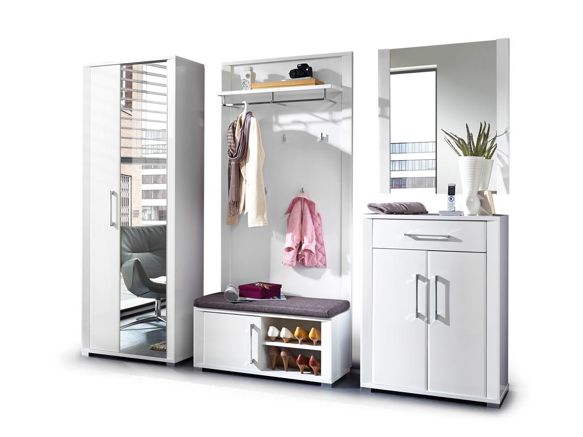 grande komplett garderobe wei hochglanz. Black Bedroom Furniture Sets. Home Design Ideas