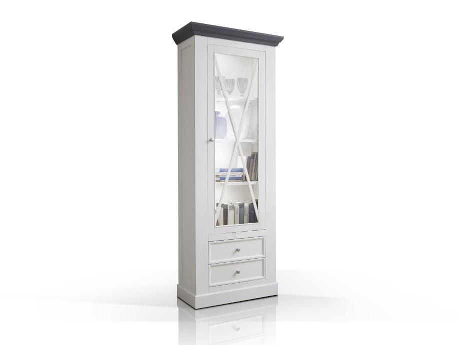 graz vitrine schmal wei lackiert. Black Bedroom Furniture Sets. Home Design Ideas