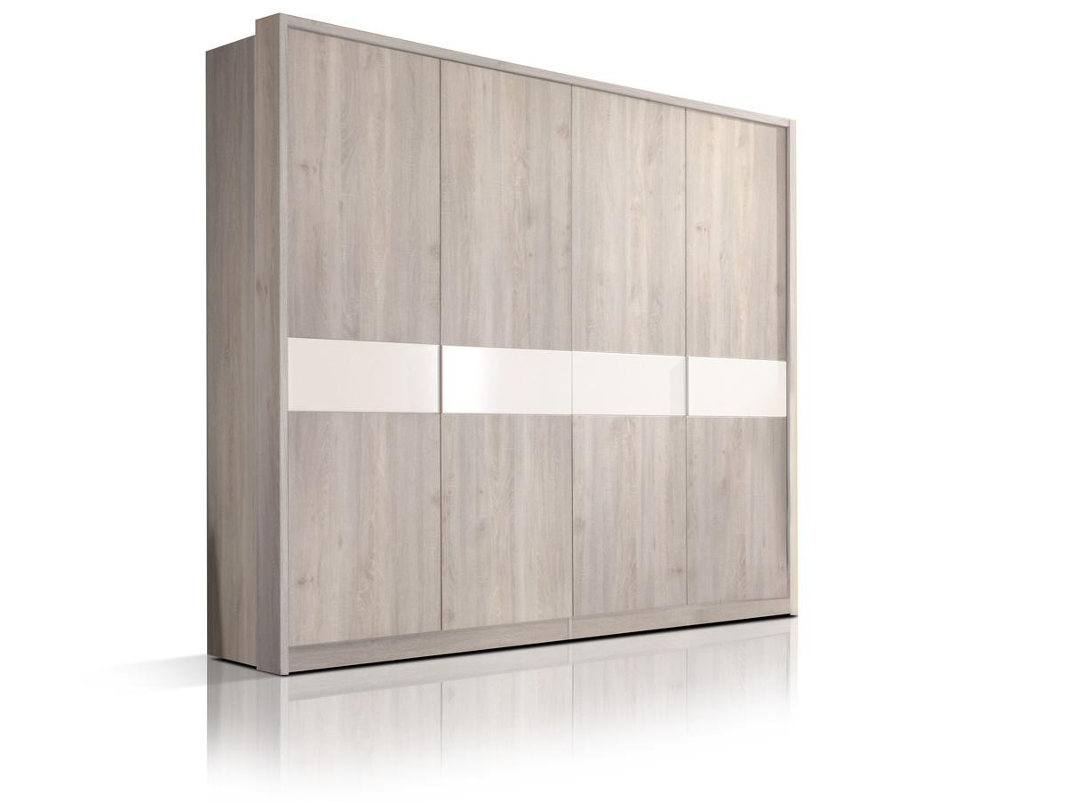ingo 4 t riger kleiderschrank silbereiche weiss. Black Bedroom Furniture Sets. Home Design Ideas