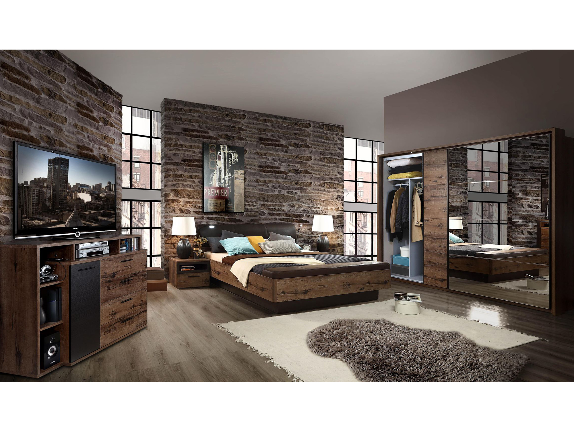 jesolo komplett schlafzimmer script schlammeiche. Black Bedroom Furniture Sets. Home Design Ideas