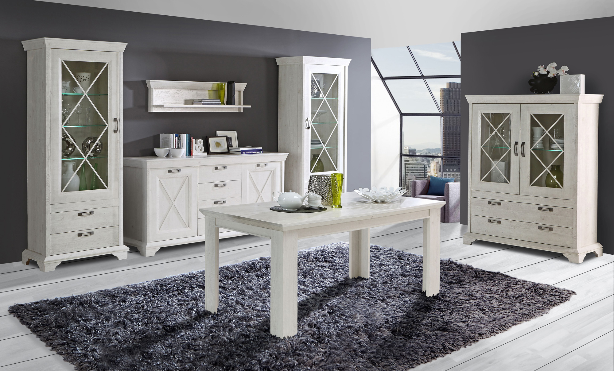 kasha kommode pinie weiss. Black Bedroom Furniture Sets. Home Design Ideas